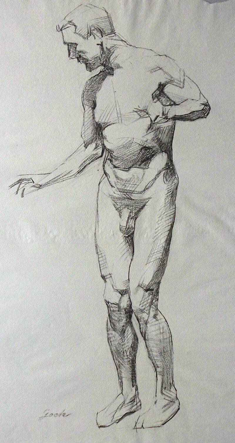 """Abbildung 1: """"Männlicher Akt, stehend (6922)"""" von Ernst Gock"""