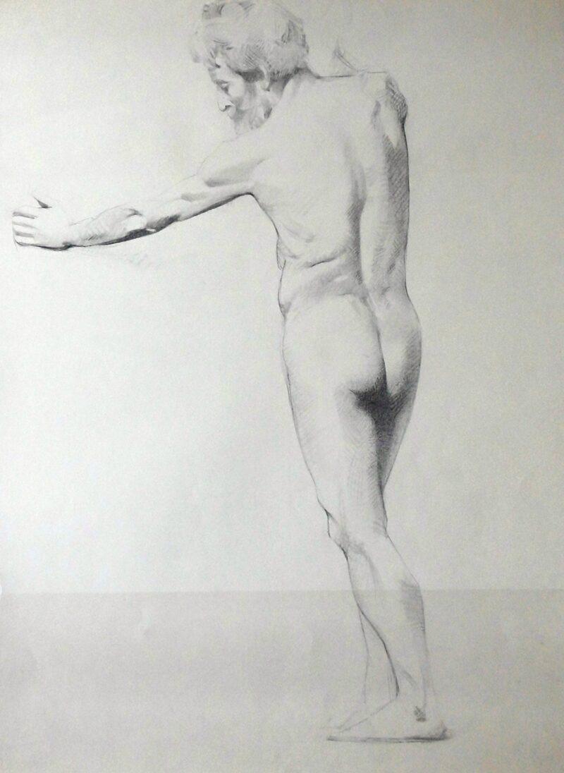 """Abbildung 1: """"Männlicher Rückenakt, stehend (8616)"""" von Ernst Gock"""