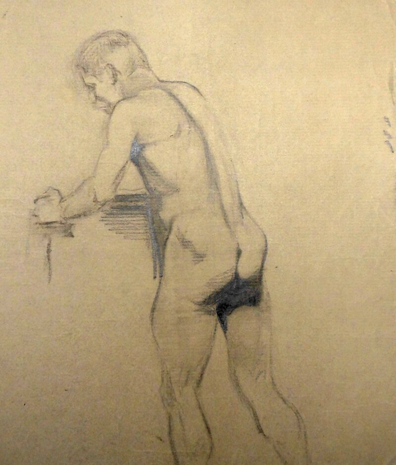 """Abbildung 1: """"Männlicher Rückenakt, stehend (9366)"""" von Ernst Gock"""