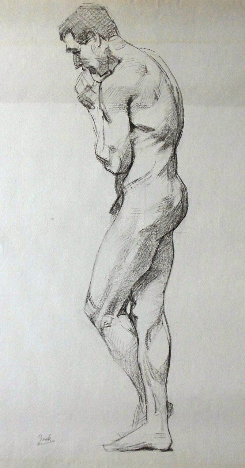 """Abbildung 1: """"Männlicher Akt, stehend (7237)"""" von Ernst Gock"""