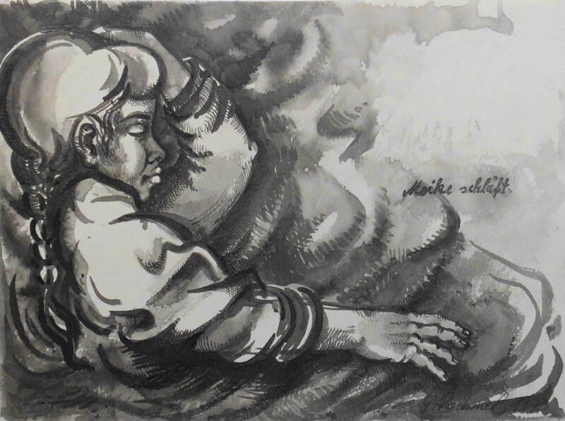 """Abbildung von """"Maike schläft"""""""