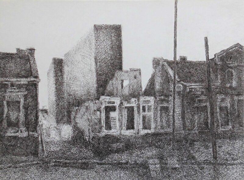 """Abbildung von """"(Stadtlandschaft mit Ruinen)"""""""