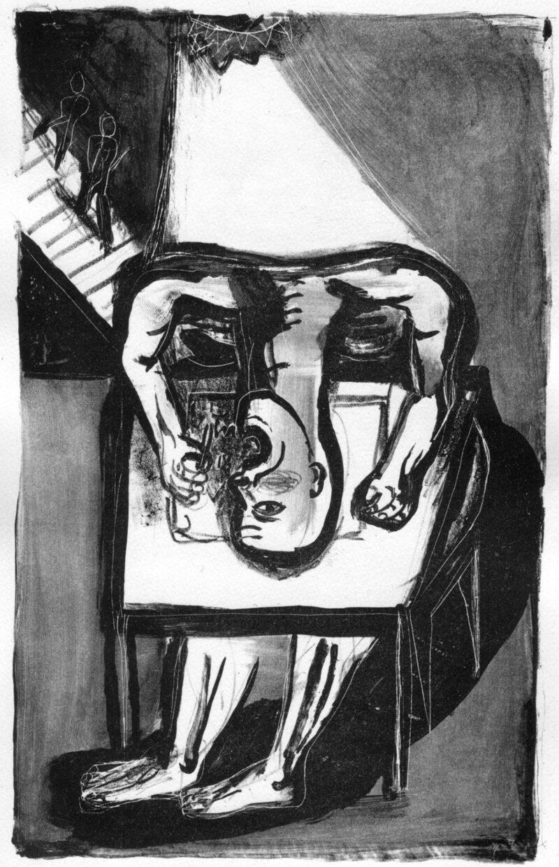 """Abbildung 1: """"Der Schreiber"""" von Klaus Killisch"""