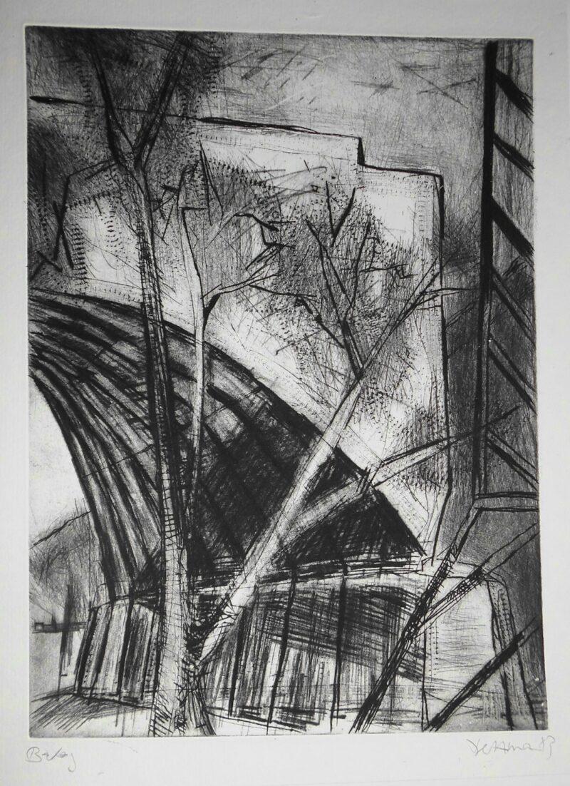 """Abbildung 1: """"Brückenreste (Kanalbrücke Magdeburg)"""" von Peter Dettmann"""
