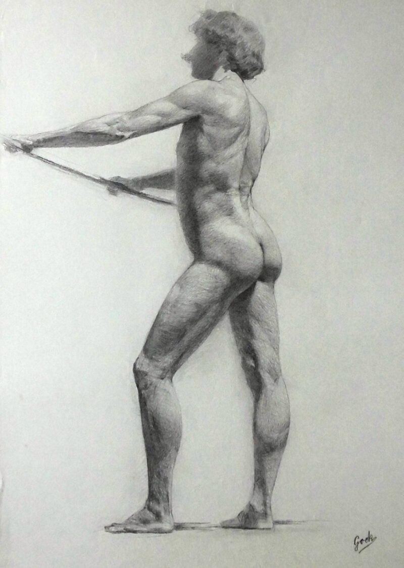 """Abbildung von """"Männlicher Akt, stehend (8567)"""""""