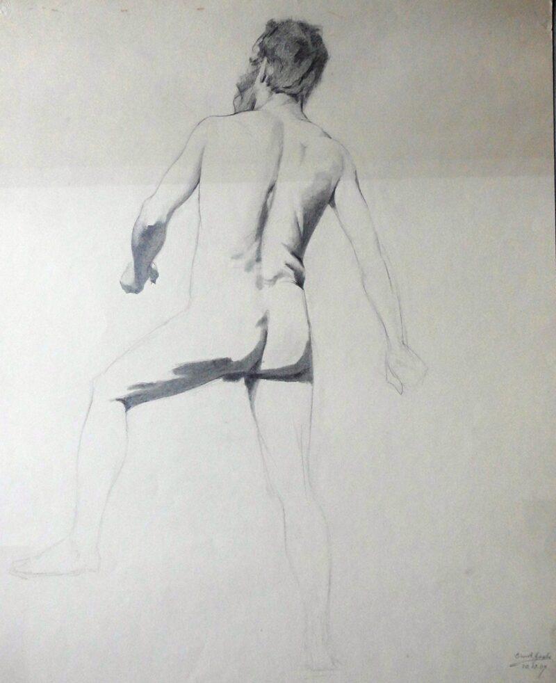"""Abbildung von """"Männlicher Rückenakt, stehend (6916)"""""""