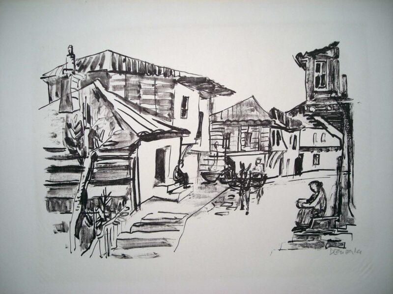 "Abbildung von ""Straße in Sosopol (Bulgarien)"""