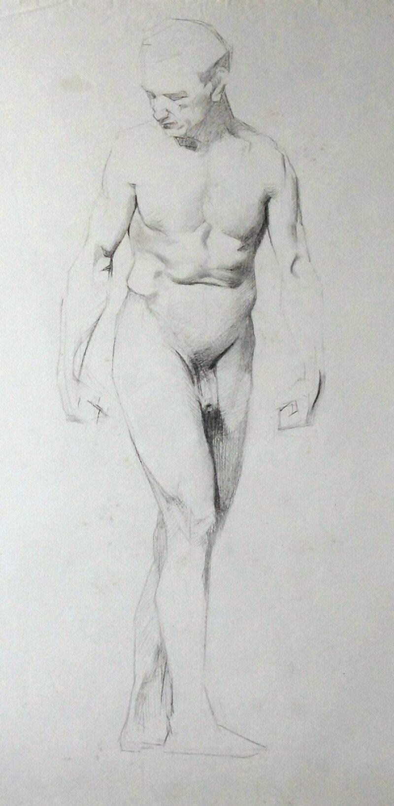 """Abbildung von """"Männlicher Akt, stehend (7509)"""""""
