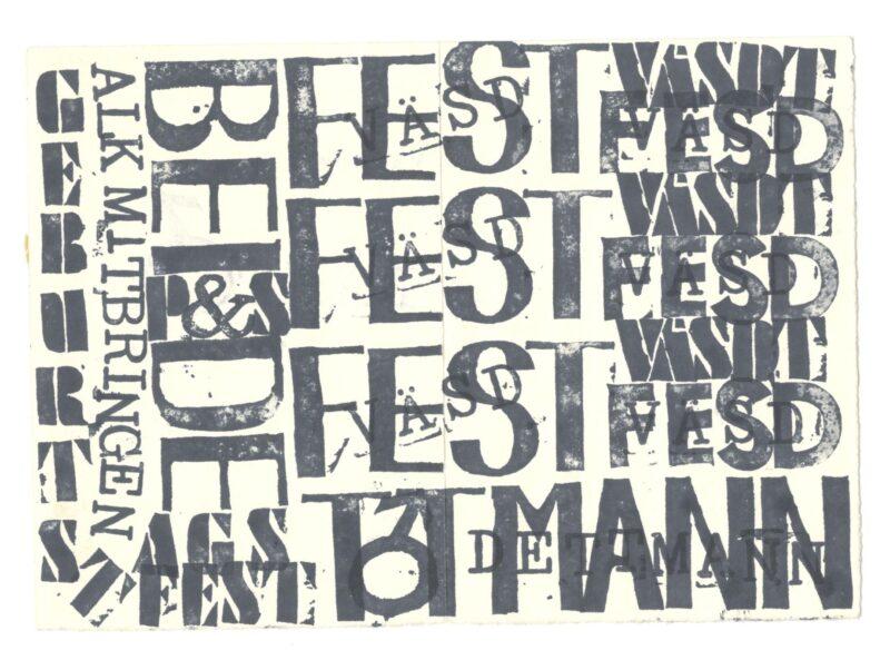 """Abbildung 1: """"Fest-Einladung"""" von Peter Dettmann"""