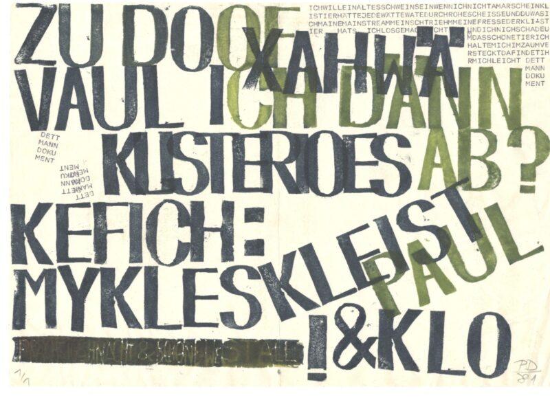 """Abbildung 1: """"KLEIST&KLOH"""" von Peter Dettmann"""