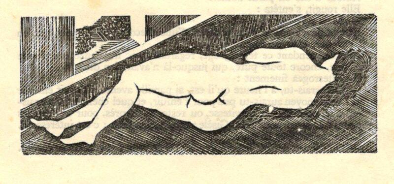"Abbildung 1: ""Liegender Akt"" von Tsouguharou Foujita"