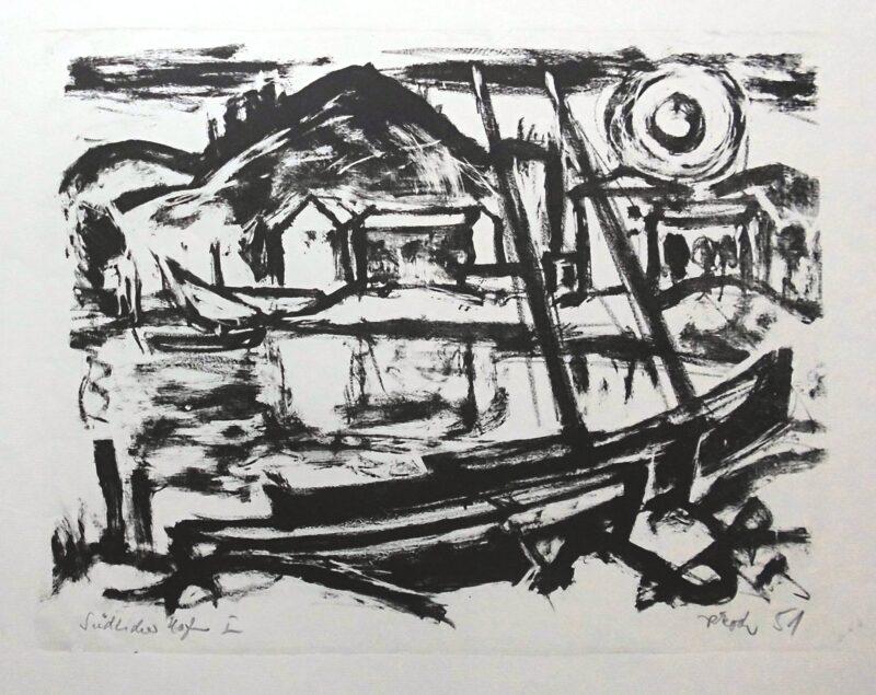 """Abbildung 1: """"Südlicher Hafen I"""" von Rudolf Koch"""