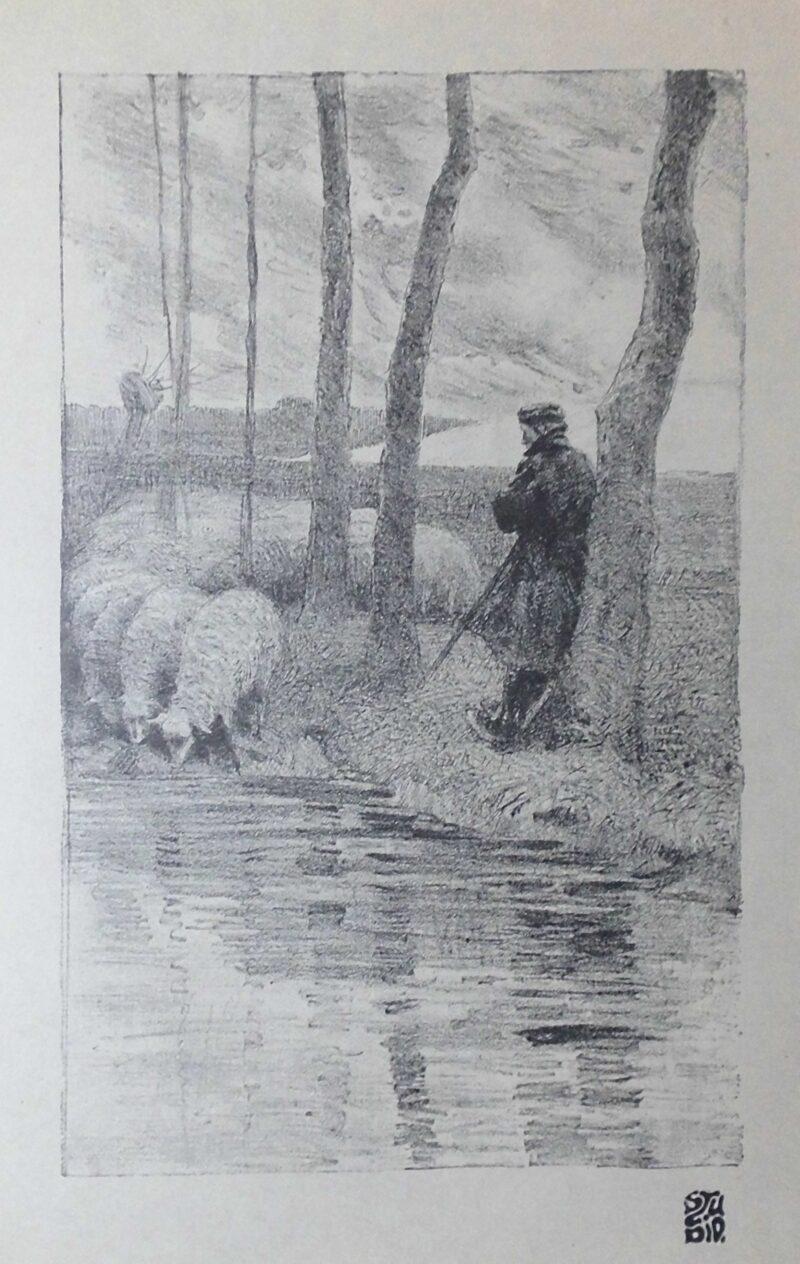 """Abbildung von """"(Schäfer tränkt Herde)"""""""