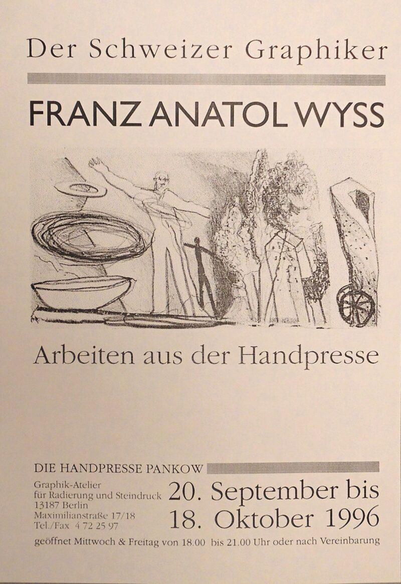 """Abbildung von """"Der Schweizer Graphiker Franz Anatol Wyss - Arbeiten aus der Handpresse"""""""