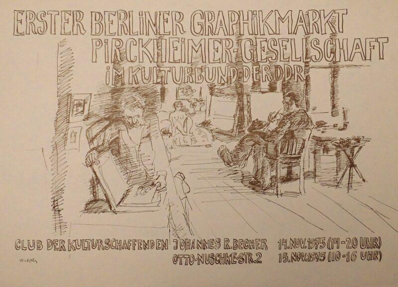 """Abbildung von """"Erster Berliner Graphikmarkt im Club der Kulturschaffenden """"Johannes R. Becher"""""""""""