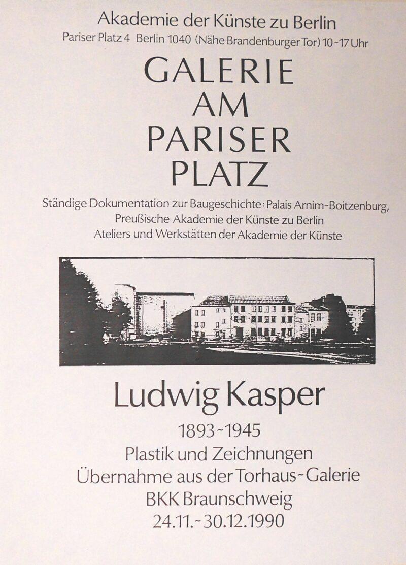 """Abbildung von """"Ludwig Kasper 1893-1945 Plastik und Zeichnungen"""""""