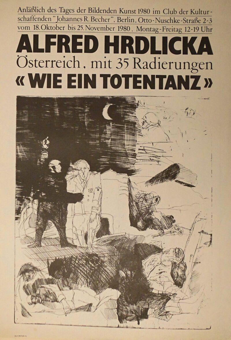 """Abbildung 1: """"Alfred Hrdlicka - Wie ein Totentanz, Ausstellungsplakat"""" von Autor Unbekannt"""