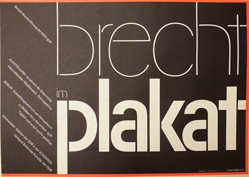 """Abbildung von """"Brecht im Plakat"""""""