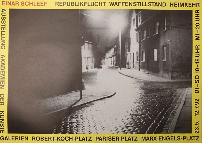 """Abbildung 1: """"Einar Schleef - Republikflucht Waffenstillstand Heimkehr"""" von Autor Unbekannt"""