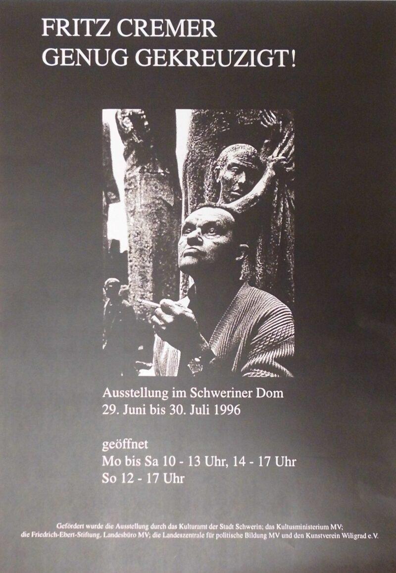 """Abbildung 1: """"Ausstellungsplakat: Genug gekreuzigt"""" von Fritz Cremer"""