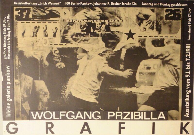 """Abbildung 1: """"Ausstellungsplakat: Wolfgang Przibilla - Grafik"""" von Autor Unbekannt"""