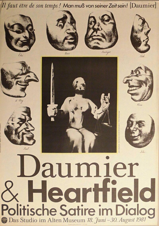 """Abbildung 1: """"Ausstellungsplakat: Daumier & Heartfield"""" von Autor Unbekannt"""