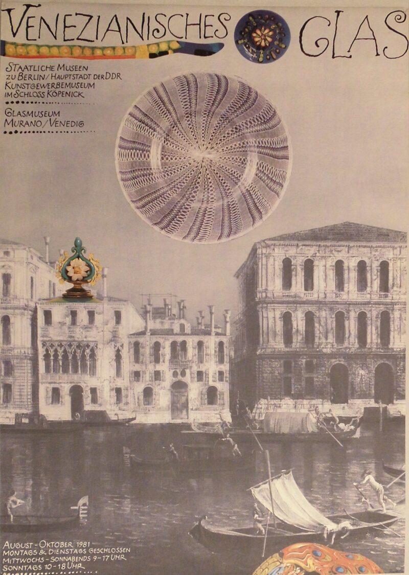 """Abbildung von """"Ausstellungsplakat: Venetianisches Glas"""""""
