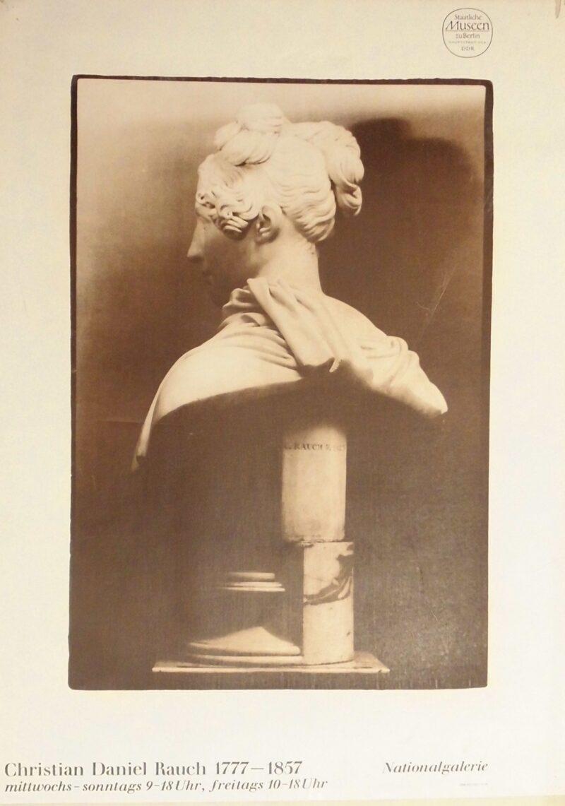 """Abbildung von """"Ausstellungspakat: Christian Daniel Rauch 1777-1857"""""""