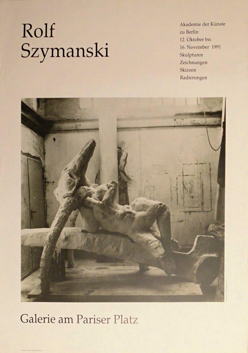 """Abbildung von """"Rolf Szymanski, Ausstellungsplakat"""""""