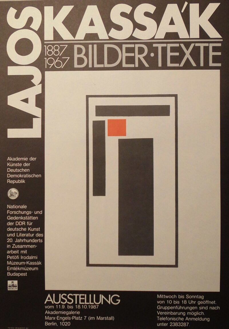 """Abbildung 1: """"Ausstellungsplakat: Lajos Kassak 1887 - 1967"""" von Autor Unbekannt"""
