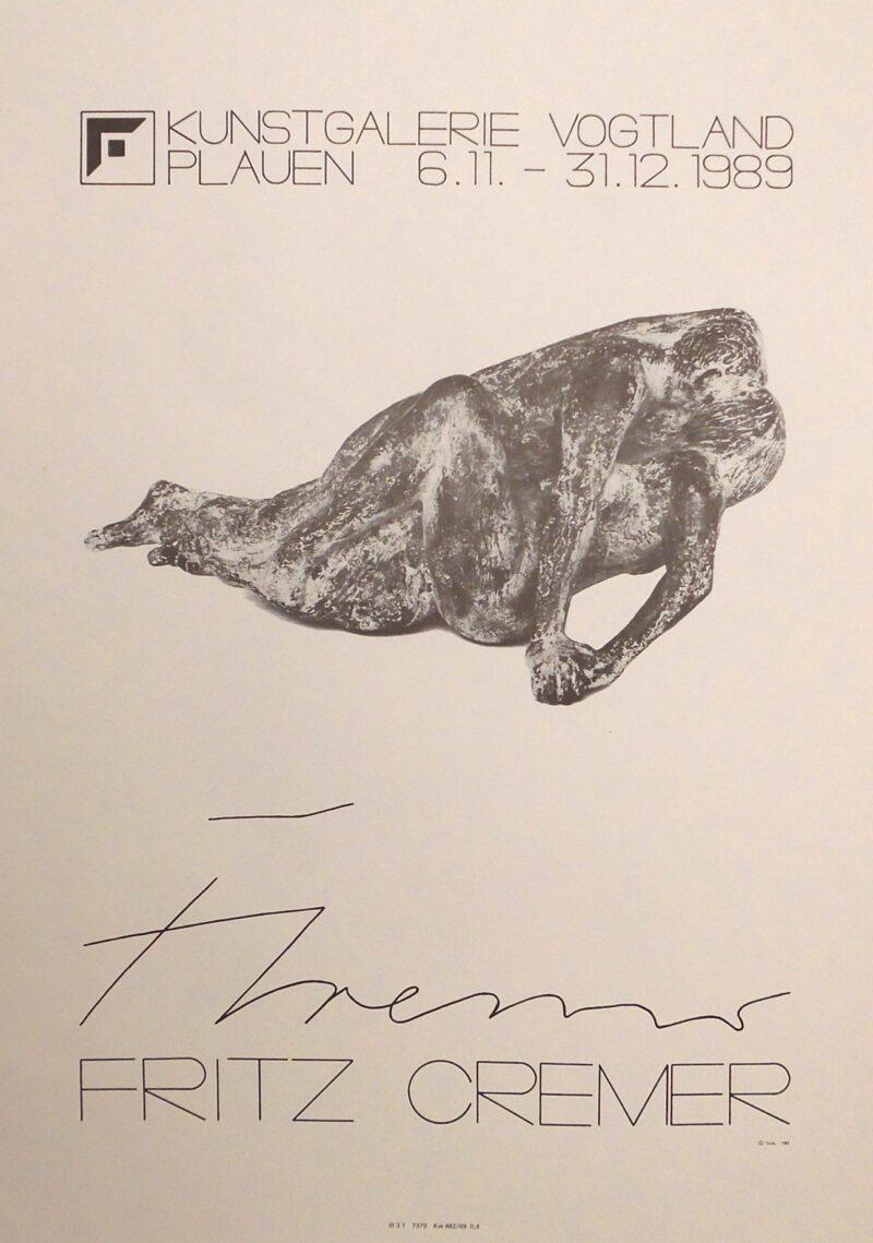 """Abbildung von """"(Ausstellungsplakat Fritz Cremer in Plauen)"""""""
