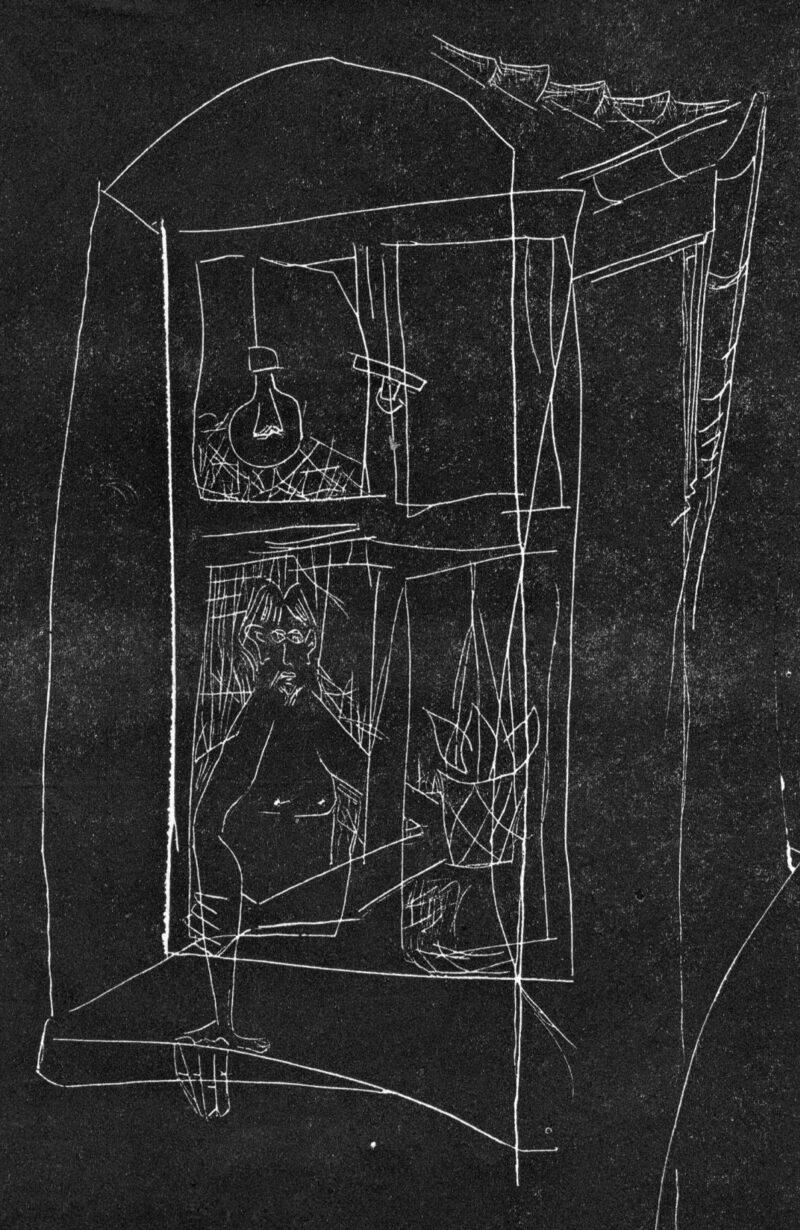 """Abbildung von """"Selbst am Fenster"""""""