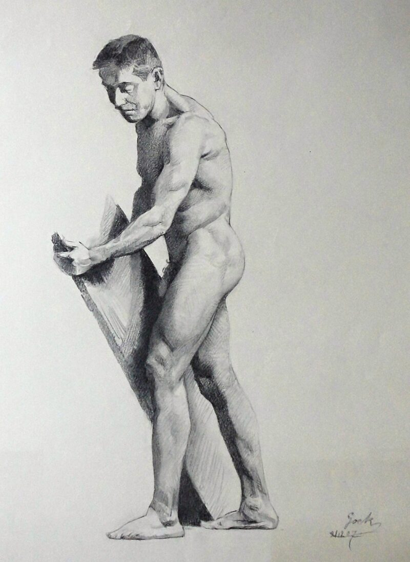 """Abbildung von """"Männlicher Akt, stehend (8566)"""""""