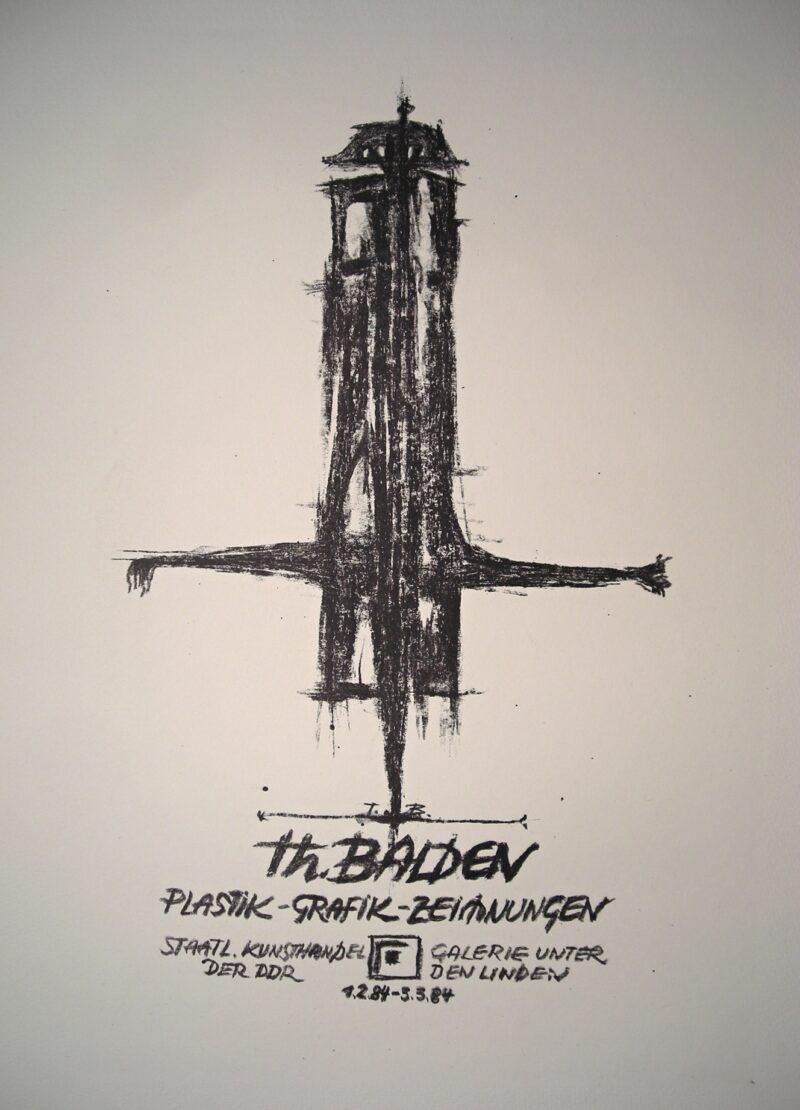 """Abbildung 1: """"Originalgrafisches Plakat Galerie Unter den Linden"""" von Theo Balden"""
