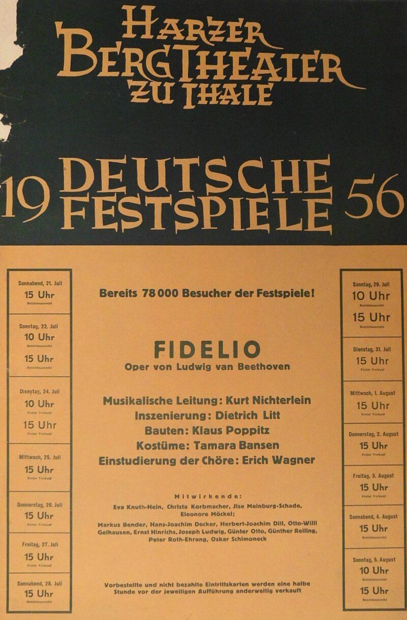 """Abbildung von """"Deutsche Festspiele 1956 Fidelio"""""""