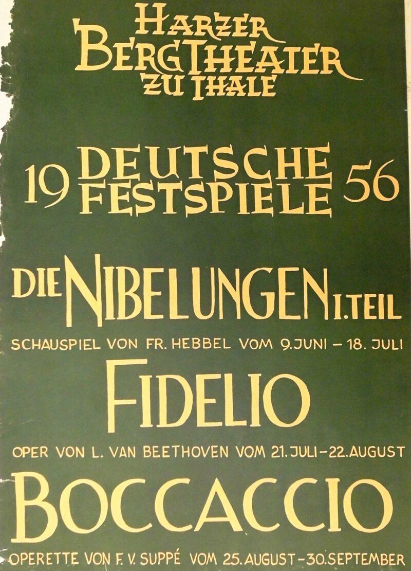 """Abbildung von """"Deutsche Festspiele 1956 Die Nibelungen 1.Teil Fidelio Bocaccio"""""""