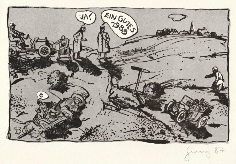 """Abbildung von """"Neujahrsgruß 1987/88"""""""