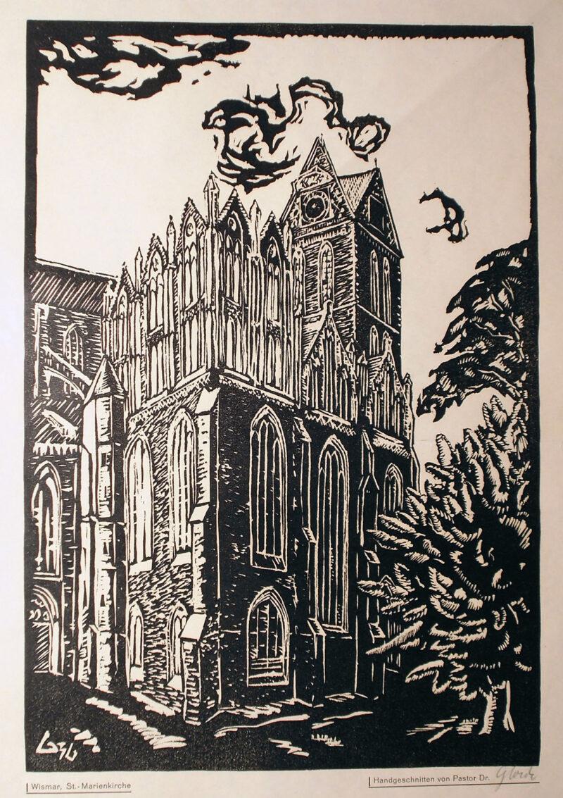 """Abbildung von """"Wismar, St. Marien-Kirche"""""""