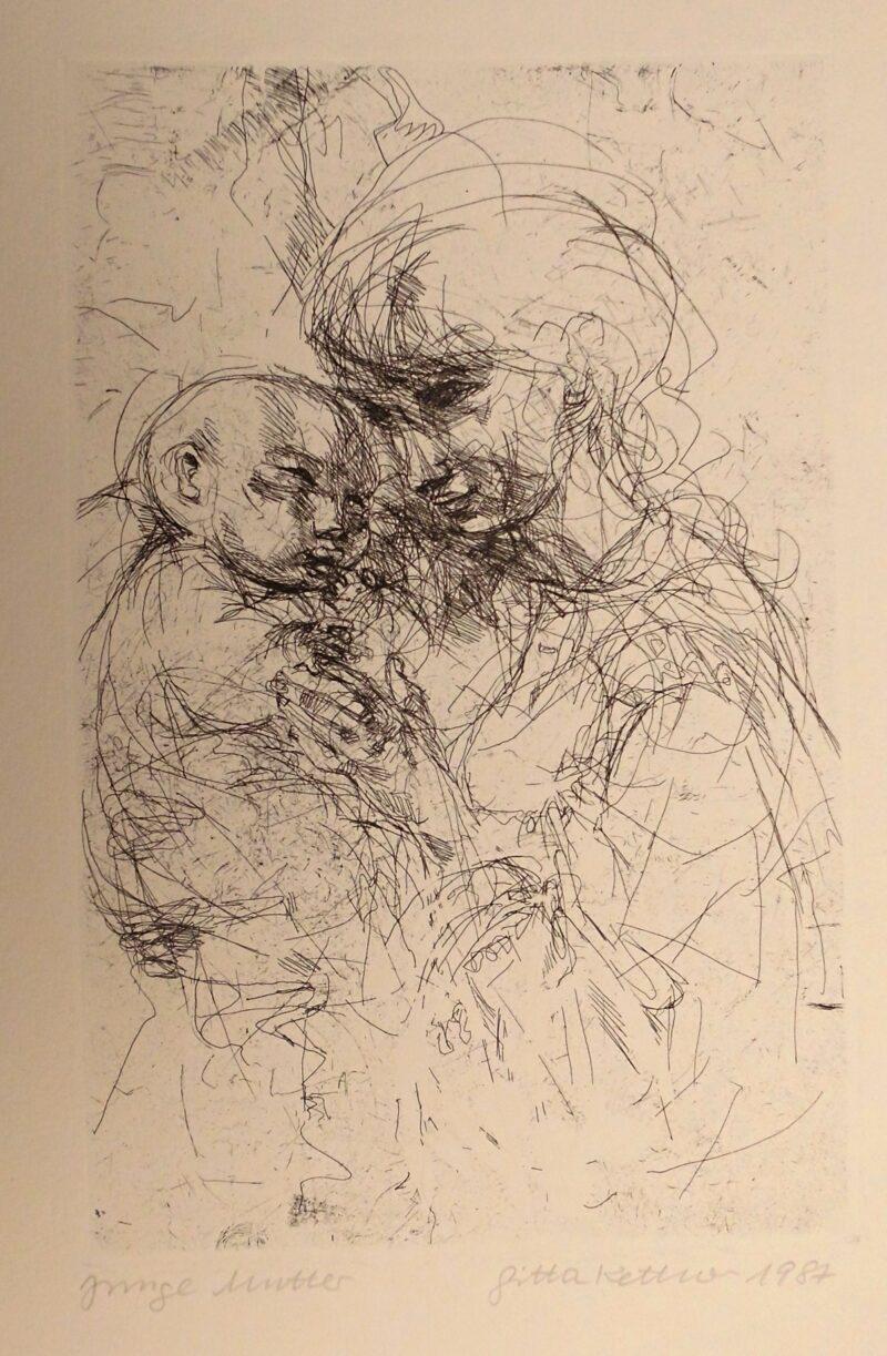 """Abbildung von """"Junge Mutter"""""""