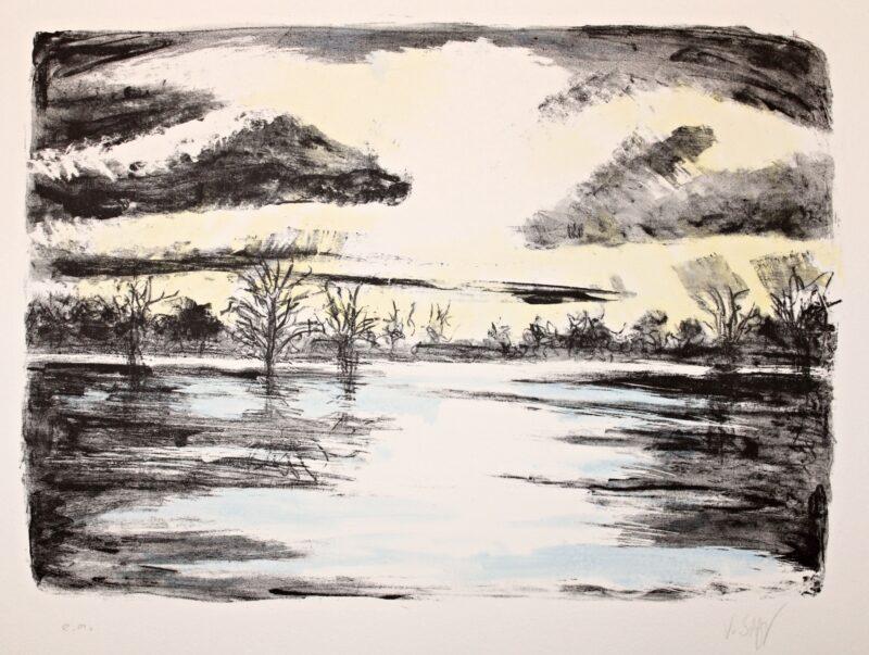 """Abbildung von """"Nacht am See"""""""