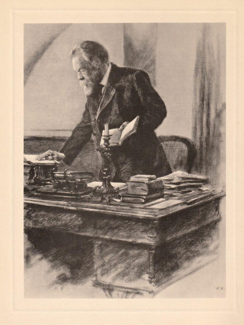 """Abbildung von """"Friedrich Engels in seinem Arbeitskabinett"""""""