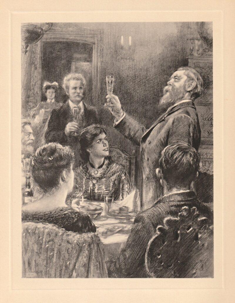 """Abbildung von """"Ein Feiertag bei Friedrich Engels (Lafargue, Wilhelm Liebknecht, Eleonore Marx)"""""""