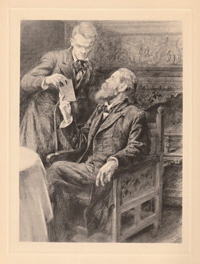 """Abbildung von """"Friedrich Engels mit einem Schüler"""""""