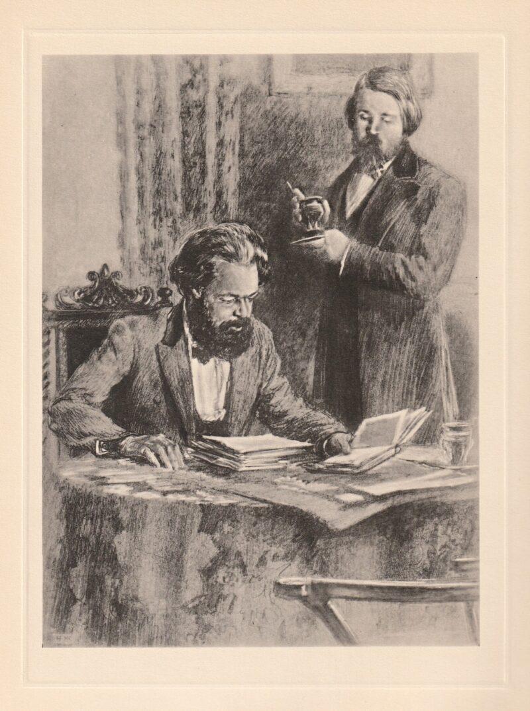 """Abbildung von """"Karl Marx und Friedrich Engels in Manchester"""""""