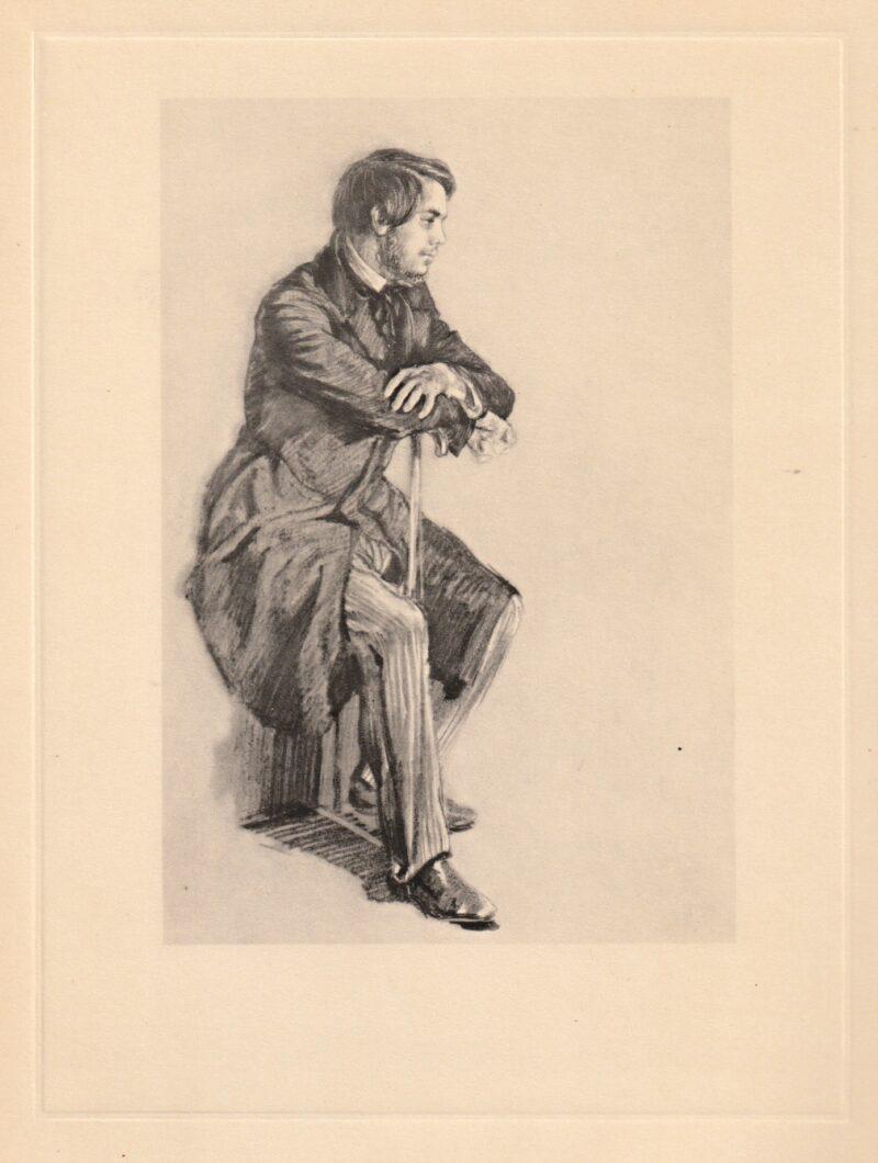 """Abbildung von """"Friedrich Engels in den vierziger Jahren"""""""