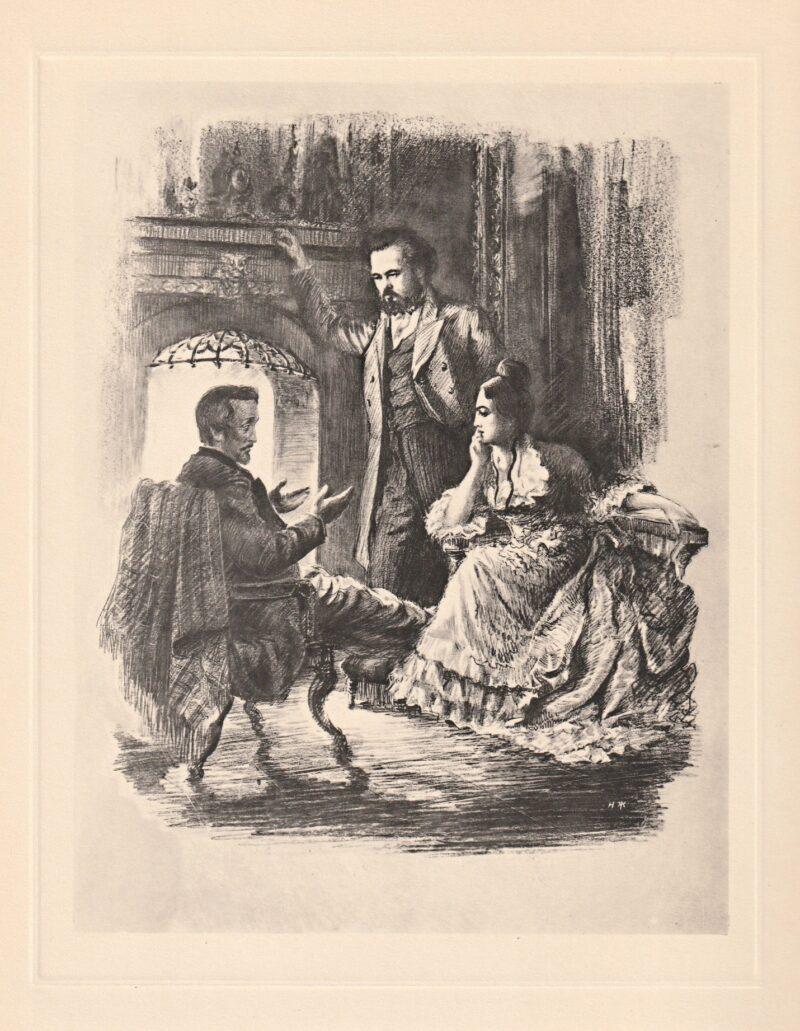 """Abbildung von """"Heinrich Heine bei Karl und Jenny Marx, Paris 1844"""""""
