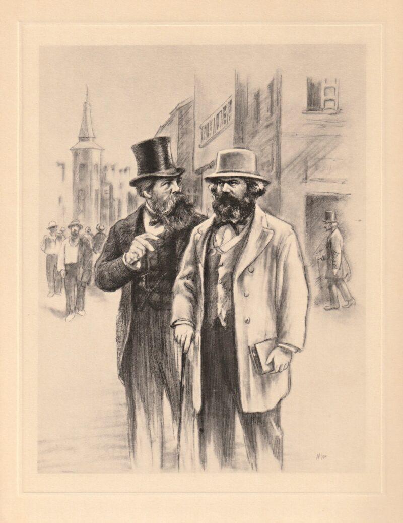 """Abbildung von """"Karl Marx und Friedrich Engels in den siebziger Jahren"""""""