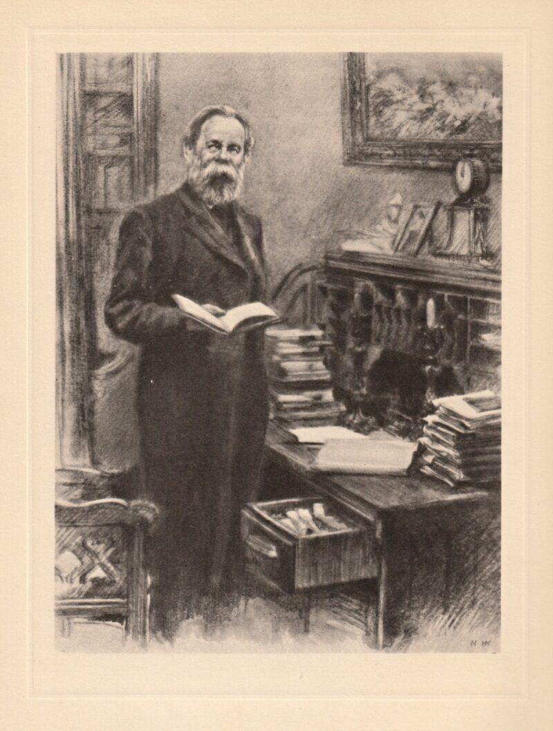 """Abbildung von """"Friedrich Engels in seinem Arbeitskabinett (in den neunziger Jahren)"""""""