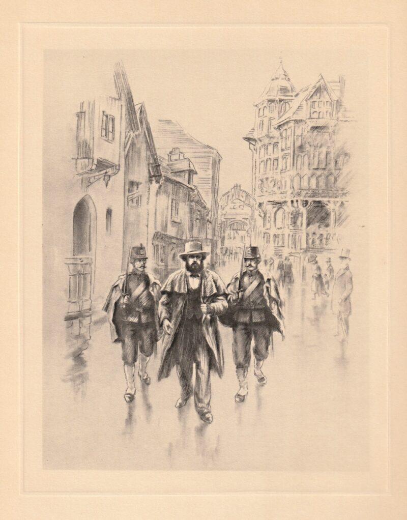 """Abbildung von """"Verhaftung von Karl Marx in Brüssel, 1848"""""""