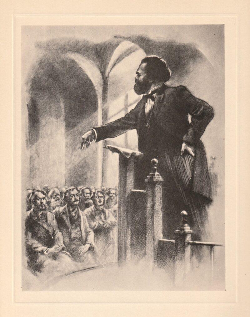 """Abbildung von """"Karl Marx hält eine Vorlesung"""""""